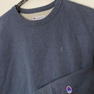 Champion Shirts - Vintage Champion CrewNeck Sweatshirt Navy Blue L